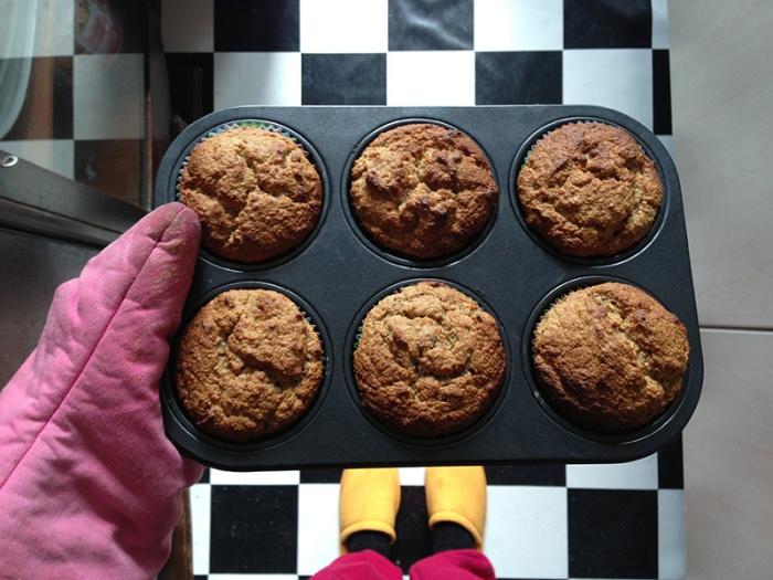 Vegan muffins. August 2013